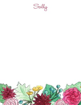 Autum Florals Flat Note