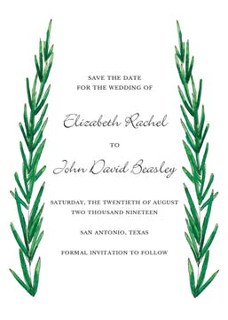Rosemary and Herbs Save the Date