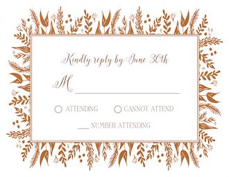 Foil Foliage Reply Card