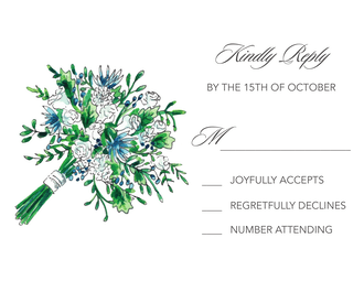 Floral Bouquet Reply Card