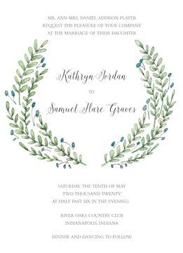 Buds and Greenery Invitation