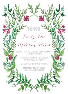 Ornate Vines Invitation
