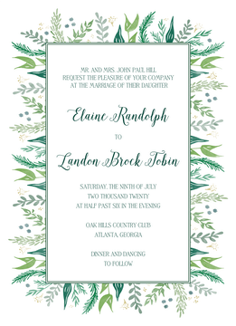 Watercolor Foliage Invitation