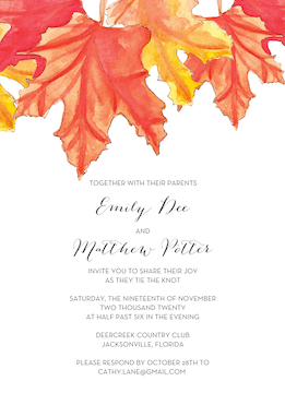 Maple Leaves Invitation
