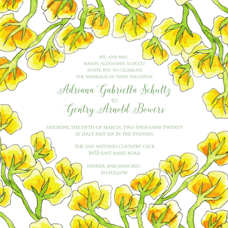 Yellow Vines Invitation