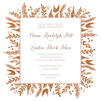Foil Foliage Invitation