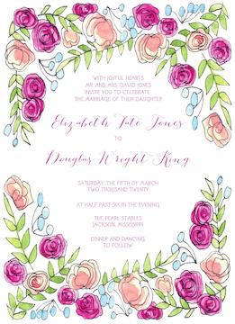 Sweet Pink Invitation