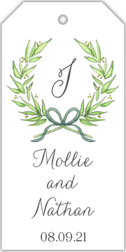 Delicate Border Wreath Hanging Gift Tag