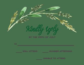 Harvest Grain Reply Card