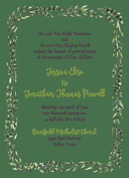 Vinyard Border Invitation