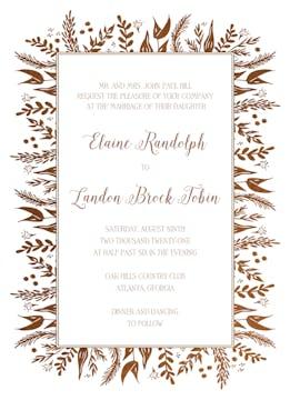 Foil Foliage Invitation