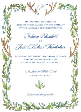 Antlers and Greenery Invitation