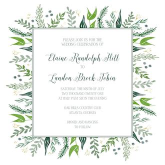 Watercolor Foliage Invitation