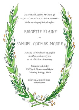 Garden Wedding Invitation