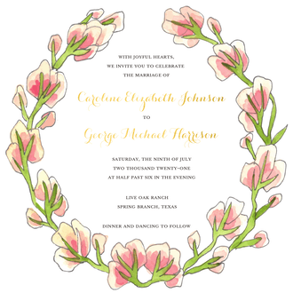 Pinky Invitation (shown with Personalized Foil - additional charge)