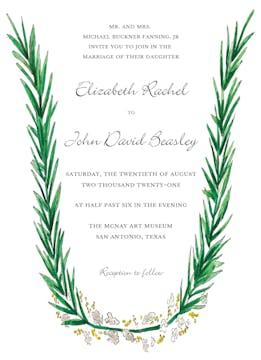 Rosemary and Herbs Invitation