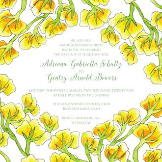 Yellow Vines Invitation