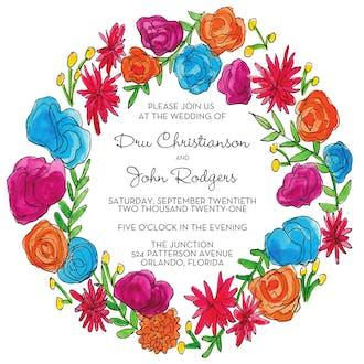 Viva Florals Invitation