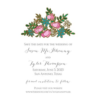 Gilded Bouquet Foil Save the Date