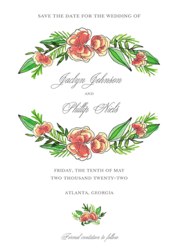 Peony Strands Save the Date