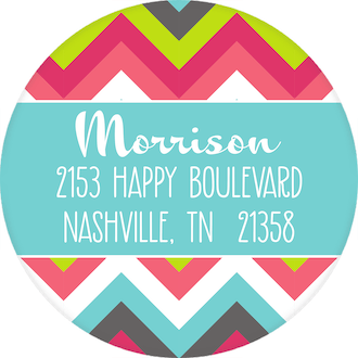 Festive Stock the Bar Round Address Label