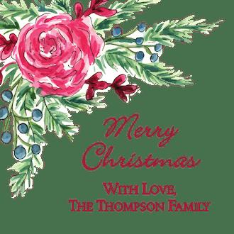 Winter Rose Enclosure Card