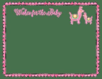 Pink Llamas Flat Note