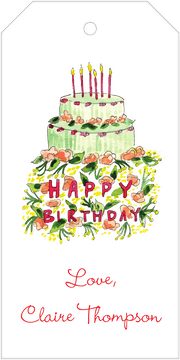 Birthday Cake Hanging Gift Tag