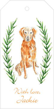 Golden Retriever Hanging Gift Tag