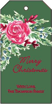 Winter Rose Hanging Gift Tag