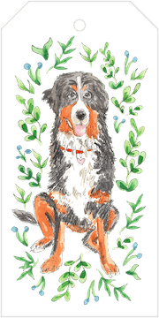 Bernese Mountain Dog Hanging Gift Tag