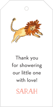 In the Jungle (Lion) Hanging Gift Tag