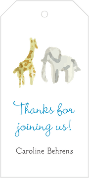 Blue Safari Hanging Gift Tag