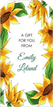 Sunflowers Hanging Gift Tag