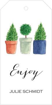 Topiary Hanging Gift Tag