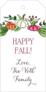 Pumpkin Patch (White) Hanging Gift Tag