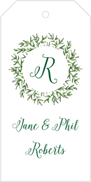 Greenery Wreath Hanging Gift Tag