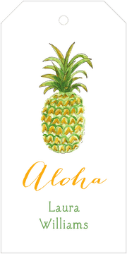 Watercolor Pineapple Hanging Gift Tag