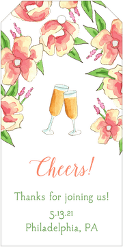 Champagne Florals Hanging Gift Tag