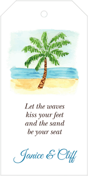 By the Beach Palm Hanging Gift Tag