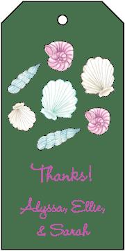 Seashells Hanging Gift Tag