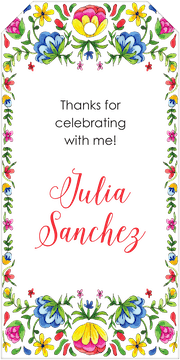 Floral Fiesta Hanging Gift Tag