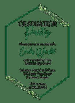 Greenery Hexagon Invitation