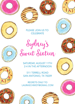 Donuts Invitation
