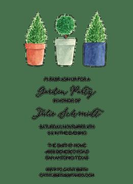 Topiary Invitation