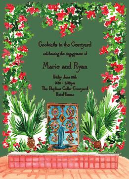 Mediterranean Fountain Invitation