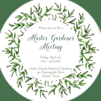 Greenery Wreath Round Invitation