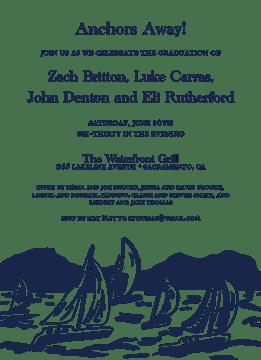 Sailboat Scene Invitation