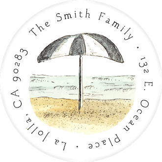 Beach Scene Return Address Label