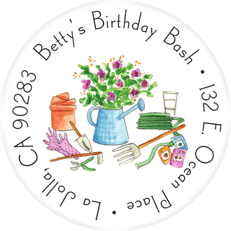 Gardening Tools Return Address Label